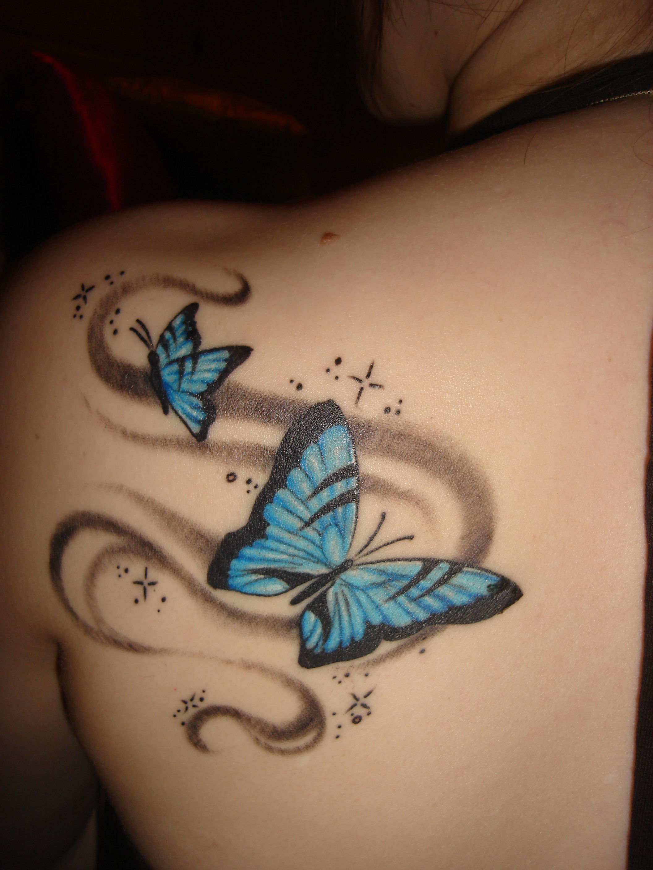 butterfly back tattoos. Black Bedroom Furniture Sets. Home Design Ideas