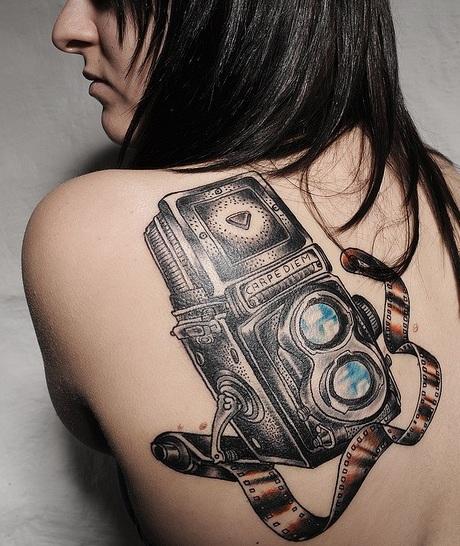 Camera Girls Tattoos on Ideas For Using Chrysanthemum On First