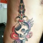 Dagger-and-Skull-Design-Tattoo-5