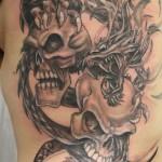 Horrible Skull Tattoo