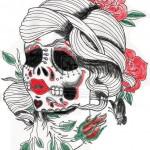 Sugar-Design-Skull-Tattoo-2
