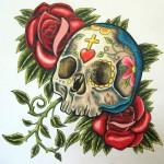 Sugar-Design-Skull-Tattoo-4