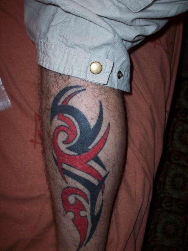 Tribal leg tattoos for Male thigh tattoos