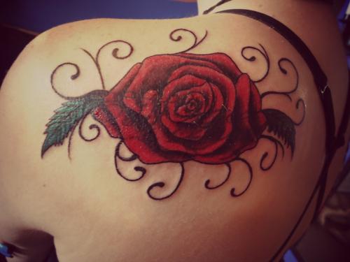 Tribal rose tattoos for Tribal rose tattoo designs