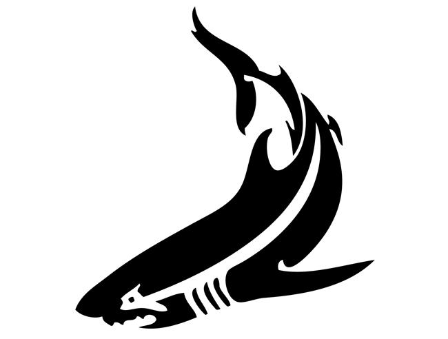 Tribal Shark Tattoos