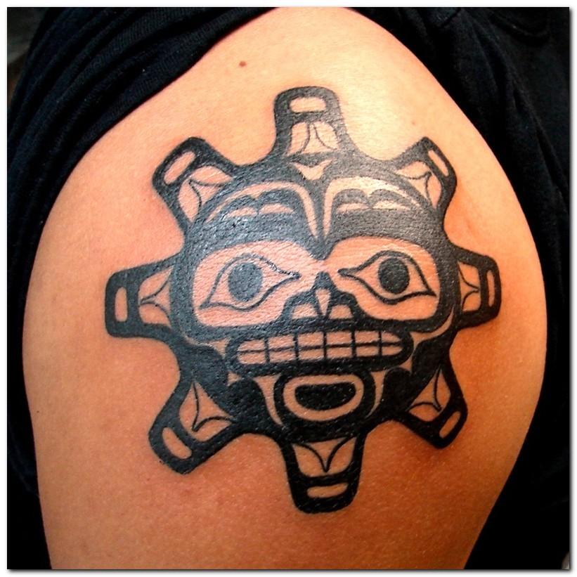 Tribal sun tattoos for Sun tribal tattoos