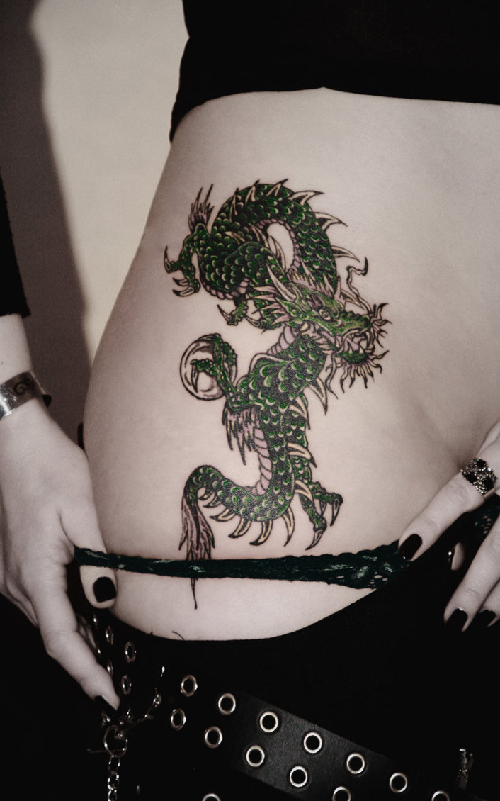 women dragon tattoos. Black Bedroom Furniture Sets. Home Design Ideas