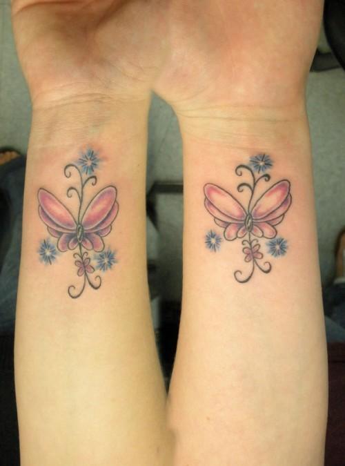 wrist butterfly tattoos. Black Bedroom Furniture Sets. Home Design Ideas