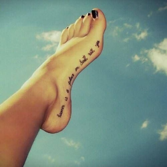 Foot Tattoos Archives Tattoo Fonts For Women And Women